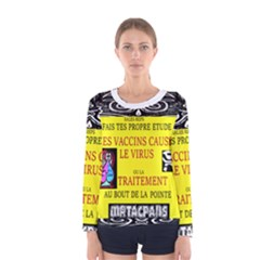 Vaccine  Story Mrtacpans Women s Long Sleeve Tee