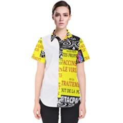 Vaccine  Story Mrtacpans Women s Short Sleeve Shirt