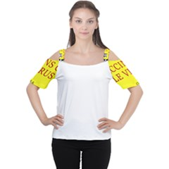 Vaccine  Story Mrtacpans Cutout Shoulder Tee