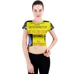 Ronald Story Vaccine Crew Neck Crop Top