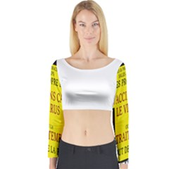 Ronald Story Vaccine Long Sleeve Crop Top