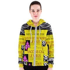 Ronald Story Vaccine Mrtacpans Women s Zipper Hoodie