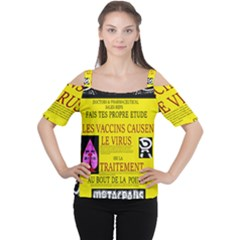 Ronald Story Vaccine Mrtacpans Cutout Shoulder Tee