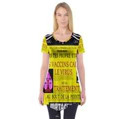 Ronald Story Vaccine Mrtacpans Short Sleeve Tunic