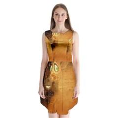 The Funny, Speed Giraffe Sleeveless Chiffon Dress