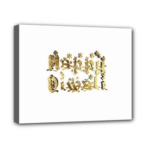 Happy Diwali Gold Golden Stars Star Festival Of Lights Deepavali Typography Canvas 10  X 8