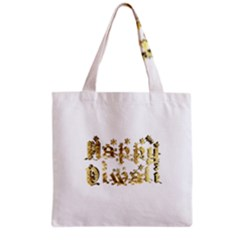 Happy Diwali Gold Golden Stars Star Festival Of Lights Deepavali Typography Grocery Tote Bag