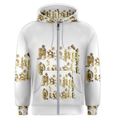 Happy Diwali Gold Golden Stars Star Festival Of Lights Deepavali Typography Men s Zipper Hoodie