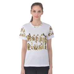 Happy Diwali Gold Golden Stars Star Festival Of Lights Deepavali Typography Women s Cotton Tee