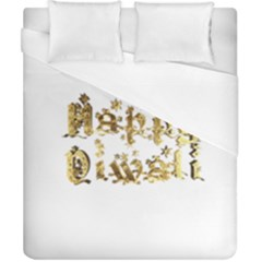 Happy Diwali Gold Golden Stars Star Festival Of Lights Deepavali Typography Duvet Cover (california King Size)