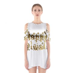 Happy Diwali Gold Golden Stars Star Festival Of Lights Deepavali Typography Shoulder Cutout One Piece