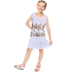 Happy Diwali Gold Golden Stars Star Festival Of Lights Deepavali Typography Kids  Tunic Dress