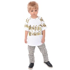Happy Diwali Gold Golden Stars Star Festival Of Lights Deepavali Typography Kids Raglan Tee