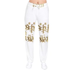 Happy Diwali Gold Golden Stars Star Festival Of Lights Deepavali Typography Drawstring Pants