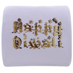 Happy Diwali Gold Golden Stars Star Festival Of Lights Deepavali Typography Back Support Cushion