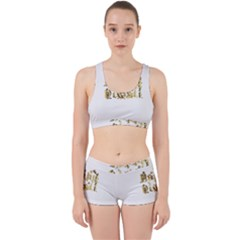 Happy Diwali Gold Golden Stars Star Festival Of Lights Deepavali Typography Work It Out Sports Bra Set