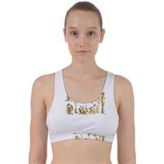 Happy Diwali Gold Golden Stars Star Festival Of Lights Deepavali Typography Back Weave Sports Bra
