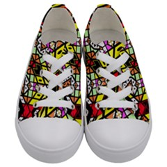 Ancient Solo Kids  Low Top Canvas Sneakers