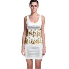 Happy Diwali Gold Golden Stars Star Festival Of Lights Deepavali Typography Bodycon Dress