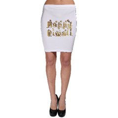 Happy Diwali Gold Golden Stars Star Festival Of Lights Deepavali Typography Bodycon Skirt