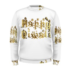 Happy Diwali Gold Golden Stars Star Festival Of Lights Deepavali Typography Men s Sweatshirt