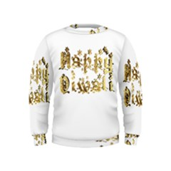 Happy Diwali Gold Golden Stars Star Festival Of Lights Deepavali Typography Kids  Sweatshirt