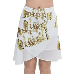 Happy Diwali Gold Golden Stars Star Festival Of Lights Deepavali Typography Chiffon Wrap