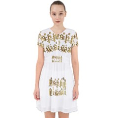 Happy Diwali Gold Golden Stars Star Festival Of Lights Deepavali Typography Adorable In Chiffon Dress