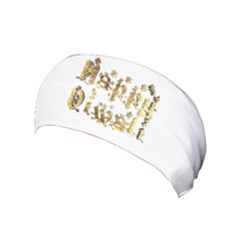 Happy Diwali Gold Golden Stars Star Festival Of Lights Deepavali Typography Yoga Headband