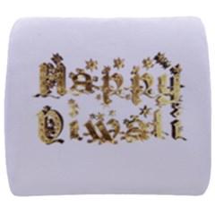 Happy Diwali Gold Golden Stars Star Festival Of Lights Deepavali Typography Back Support Cushion