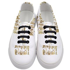 Happy Diwali Gold Golden Stars Star Festival Of Lights Deepavali Typography Women s Classic Low Top Sneakers