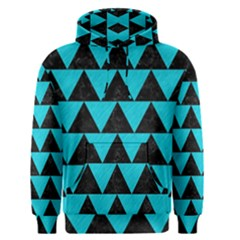 Triangle2 Black Marble & Turquoise Colored Pencil Men s Pullover Hoodie
