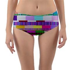 Error Reversible Mid Waist Bikini Bottoms