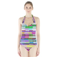 Error Halter Swimsuit