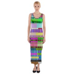 Error Fitted Maxi Dress