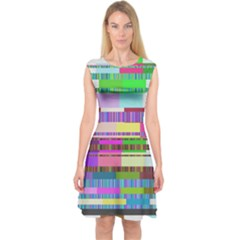 Error Capsleeve Midi Dress