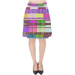 Error Velvet High Waist Skirt