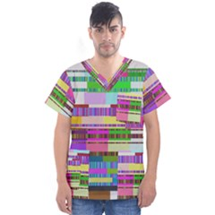 Error Men s V Neck Scrub Top
