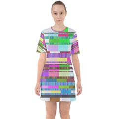 Error Sixties Short Sleeve Mini Dress
