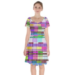Error Short Sleeve Bardot Dress