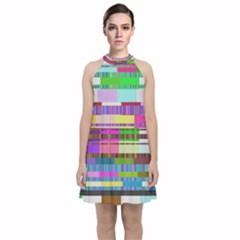 Error Velvet Halter Neckline Dress