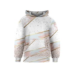 Collage,white Marble,gold,silver,black,white,hand Drawn, Modern,trendy,contemporary,pattern Kids  Pullover Hoodie