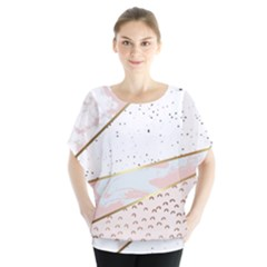 Collage,white Marble,gold,silver,black,white,hand Drawn, Modern,trendy,contemporary,pattern Blouse