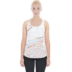 Collage,white Marble,gold,silver,black,white,hand Drawn, Modern,trendy,contemporary,pattern Piece Up Tank Top