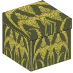 Art Nouveau Green Storage Stool 12