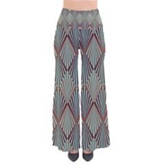 Art Deco Teal Brown Pants