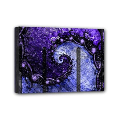Beautiful Violet Spiral For Nocturne Of Scorpio Mini Canvas 7  X 5