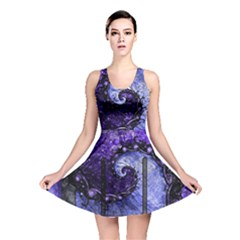 Beautiful Violet Spiral For Nocturne Of Scorpio Reversible Skater Dress
