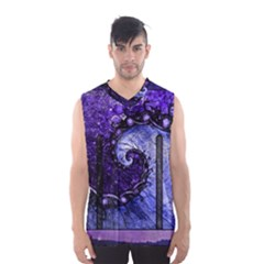 Beautiful Violet Spiral For Nocturne Of Scorpio Men s Basketball Tank Top