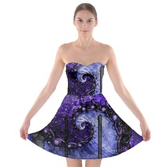 Beautiful Violet Spiral For Nocturne Of Scorpio Strapless Bra Top Dress